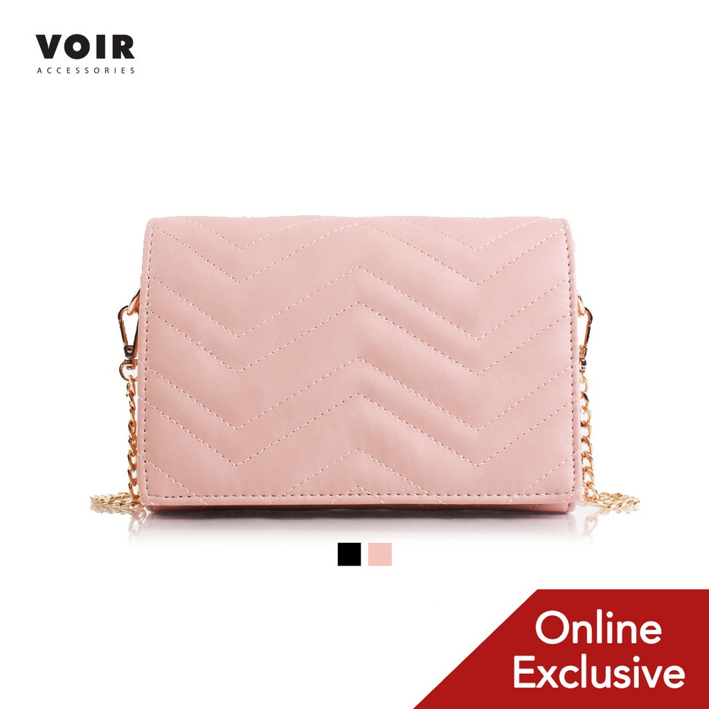 ONLINE EXCLUSIVE - VOIR Quilted Sling Bag with Front Flap Closure VN201218-U031811