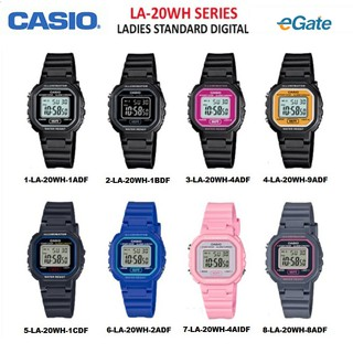 (2 YEARS WARRANTY) CASIO LA-20WH Series Unisex & Kids Digital Youth Design Resin Band Original Watch