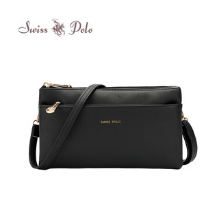 SWISS POLO LADIES CLUTCH / SLING BAG HCE 3412-1 BLACK