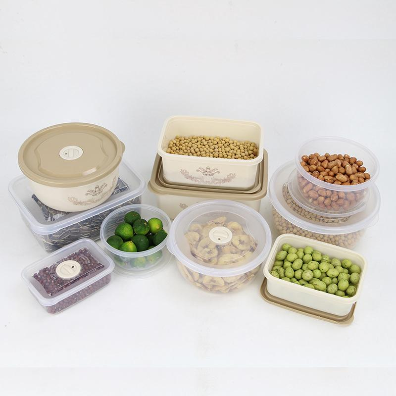 Seal Up Fresh Box Round 4 Paper Set Student Instant Noodles Bowl Refrigerator Food Accept Box Available Microwave Oven