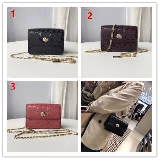 COACH F31384 31440 Women Printed Chain Belt Pack Messenger Small Bag Handbag ( Free Shipping )Sling Bag