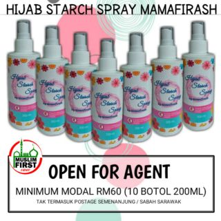 10 ,15 @ 20 BOTOL HIJAB STARCH SPRAY VIRAL(Open For Agent)