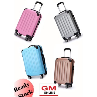 Luggage Plain ABS Material Fashionable Suitcase Travel Luggage (20inch/24inch)