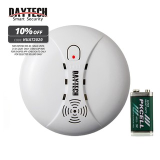 DAYTECH Smoke Detector Sensor Independent Wireless Fire Smart Alarm With a 9V Battery Home Family Guard Security(SM02)