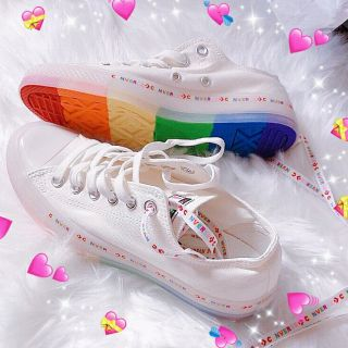 【Ready stock】Converse All Star Color String Jelly Rainbow Low Tops Candy Color Canvas