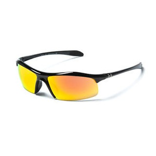 Under Armour UA Zone Sport Sunglasses Shiny Black Orange