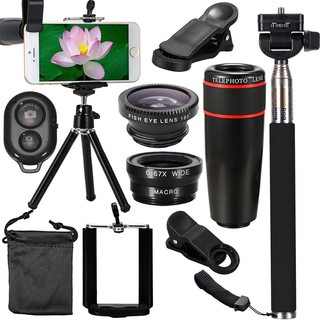 Easy Life Phone Camera Lenses Kit 8x Telephoto Lentes Fish Eye Wide Angle IVV