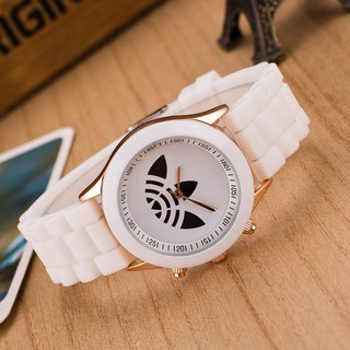 Three-leaf silicone watch student watch men and women sports quartz watch hot explosion spot