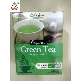 purify tree organic green tea 20 x2g