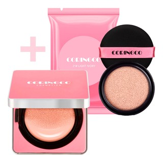 [ Buy 1 Free 1] CORINGCO Cherry Blossom Water BB Cushion 15g + Refill 15g