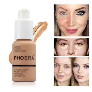 PHOERA 10 Colors Foundation Matte Full Coverage Liquid Oil Control