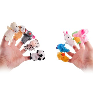 10 pcs/lot Baby Plush Toy Finger Puppets Story Props Animal Doll Children Gift