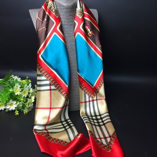 Red Silk Hijab Towel European And American Big-Name Scarf 2018 New Air Condition