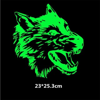 Luminous Fierce wolf Stickers patch for Shuffle T-shirt Dresses Sweater A-level Washable thermal transfer Printed iron o