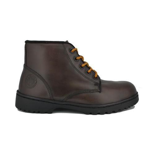 Walk About® Men Lace-up Waxed leather Safety boots (6907 Brown 031)