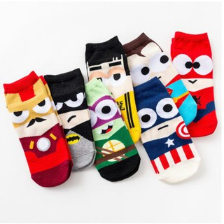 11.11 Limit Timesuperhero marvel Man women unisex 35-43 socks Ankle Cotton Socks Sports Socks