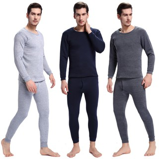 MYHot Sale  Mens Pajamas Winter Warm Thermal Underwear Long Johns Sexy Black