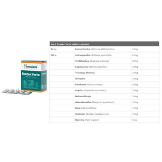 Ready Stocks, Himalaya Tentex Forte 1 strip x10 tablets for men