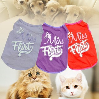 1pc Fashion Pet Puppy Dog Summer Small Dog Cat Dogs Pets Clothing Cotton T Shirt Apparel Clothes Dog Rule Vest