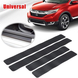 4 pcs Car Door Sill Carbon Fiber Sticker Door Scratch-Resistant Anti-Slip Film