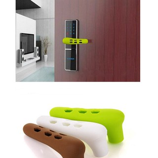 Home Door Handle Knob Anti-collision Silicone Doorknob Cover Guard Protector E24