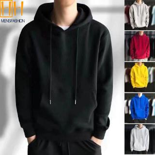 HOTMen's Casual Hoodie 6 Solid Colors  Loose Sports Sweater Outerwear