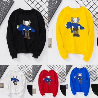 ✨Koreangirl💕KAWS Sesame Street Women Autumn Winter Couple Round Collar Sweater