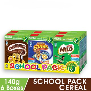 NESTLE School Pack Cereal 6 Boxes, 140g Each