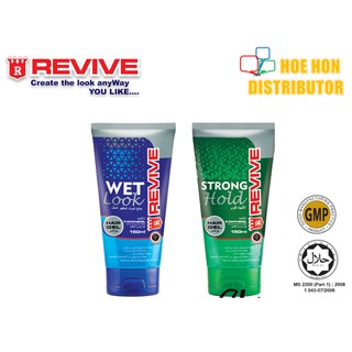Revive Hair Gel 150ml Strong Hold / Wet Look (HALAL) Gel Rambut