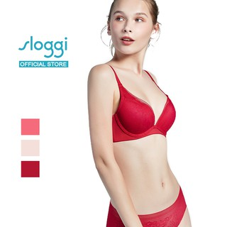 Sloggi ZERO Lace Wired Push-up Bra - Rouge/Peanut Butter/Pink Grapefruit Jam