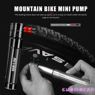 ◀▶Professional Bicycle Pump  Mini Outdoor Accessories Barometer US Law Mouth Universal