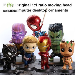 Marvel Super Heroes Action Figures Avengers Infinity War PVC Desk Model Decor