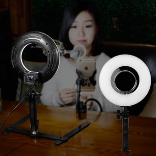 8 Inch Ring Light Dimmable Tabletop Photography Light 24W 5500K Makeup Lamp
