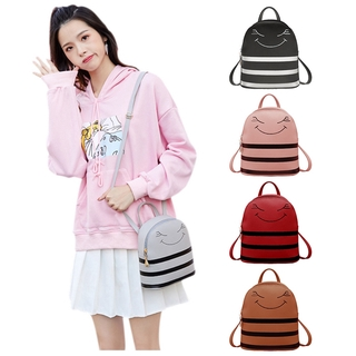 Smile Small Women Backpack Carry Shoulder Mobile Phone Bag