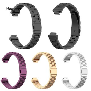 Hu Replacement Metal Strap Watch Band for Fitbit Inspire/Inspire HR Smart Bracelet