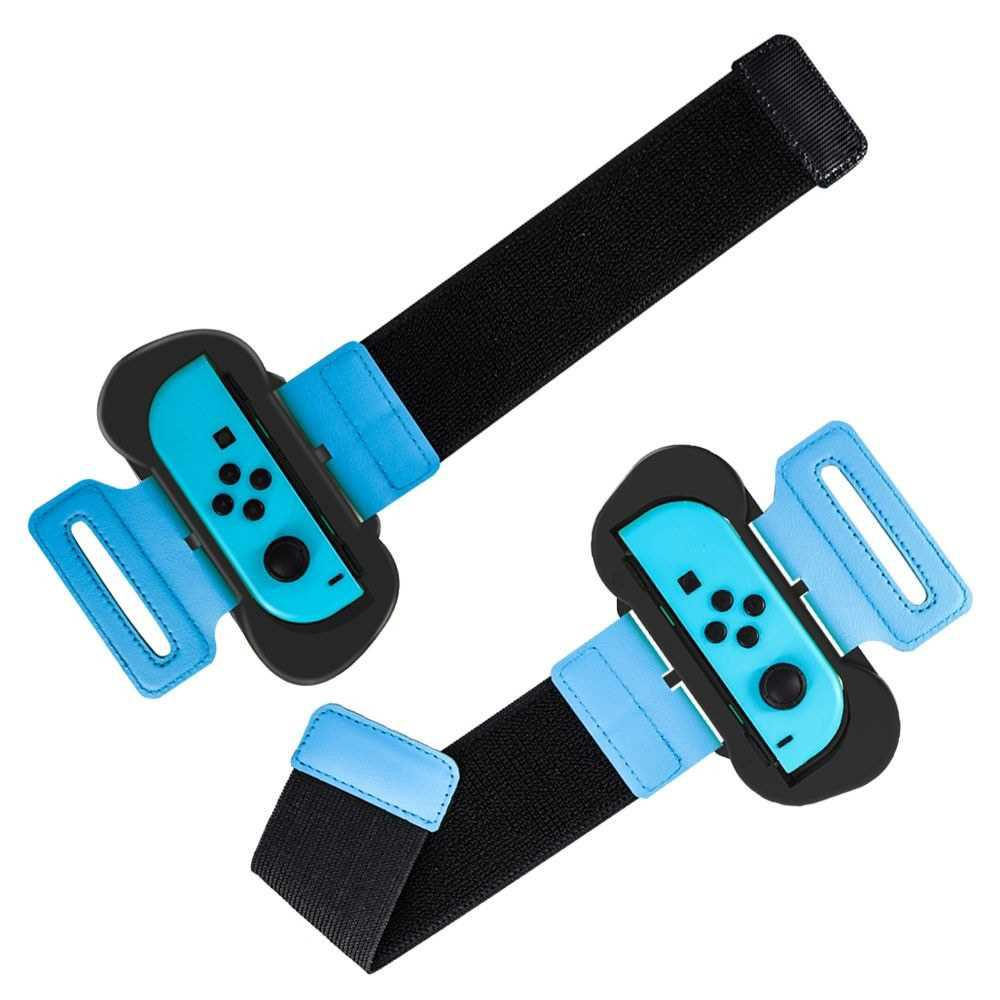 2Pcs Wristband Wrist Strip with Nylon Fastener Compatible with Just Dance For NS