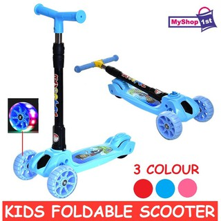 Kid Children Foldable Scooter With LED Wheels Heigth Adjustable