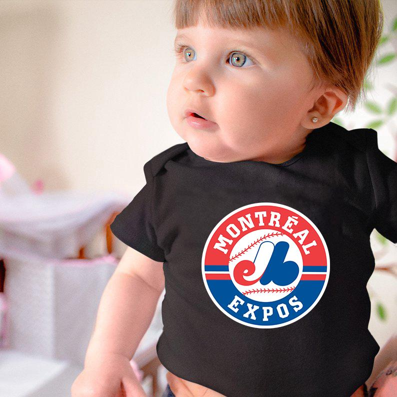 Montreal Expos New Born Baby Summer Bodysuit Cotton Kids Clothes