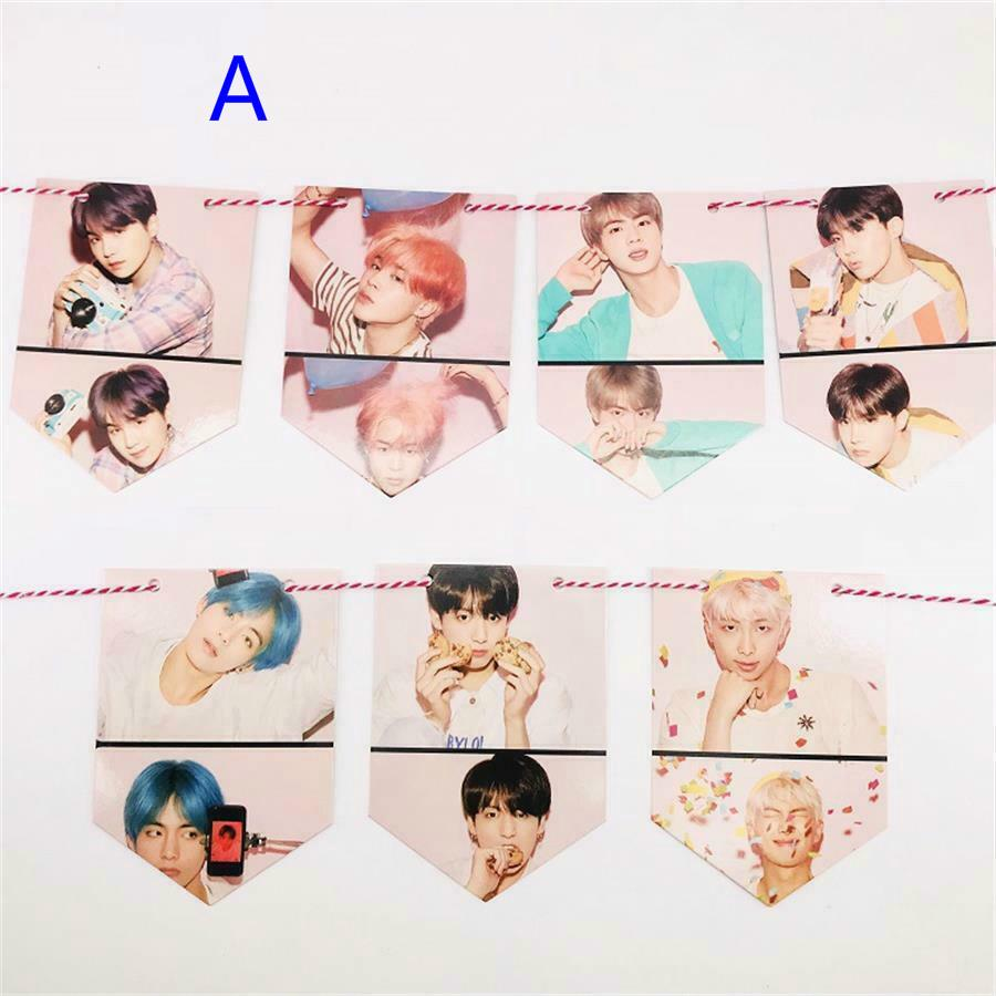 Kpop BTS Map of The Soul: Persona Paper Flag Poster HD Hang up Photo Home Decor