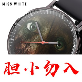 MISS WHITE Horror Movie Student Quartz Fashion Trend Watch Business Watch