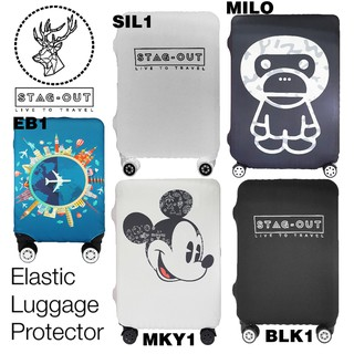 [Stag-Out] Elastic Luggage Protector Cover Luggage Suitcase Anti Scratch Dust Proof (24/28 inch M/L size )