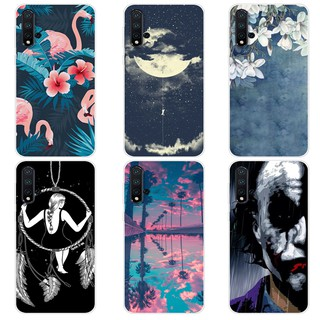 Huawei Nova 5 Printed Case Clear Silicone TPU Back Protector Cover Cartoon Soft Phone Mobile Casing For Nova5 Case