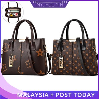 READY STOCK MYFOOYIN woman handbag shoulder bag sling bag tote bag flower star bag
