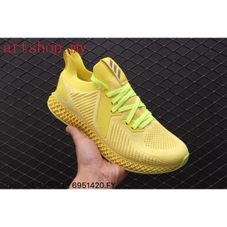 Ready Stock adidas alphaedge 4d men sports running casual shoes yellow
