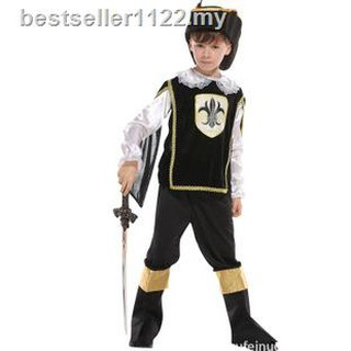 Halloween show out in make-up prom dress boys cosplay ancient Roman samurai little warrior costume
