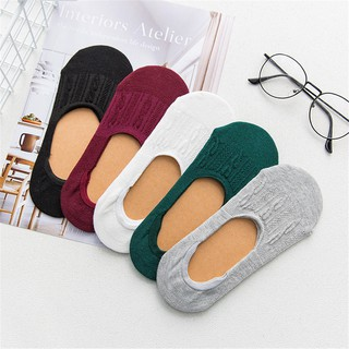 Breathable Low Cut Liner Boat Socks Women Invisible Soft Cotton Pure Color