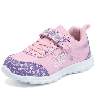 Size 31-37  Kid Shoes Cartoon Girl Running Shoes Girl  Light Weight Sport Shoes