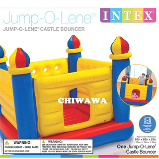INTEX Inflatable Toy Castle Jump-O-Lene Kids Jumper Bouncer Playground Bed Ring Trampoline / Mainan Lompat Khemah Istana