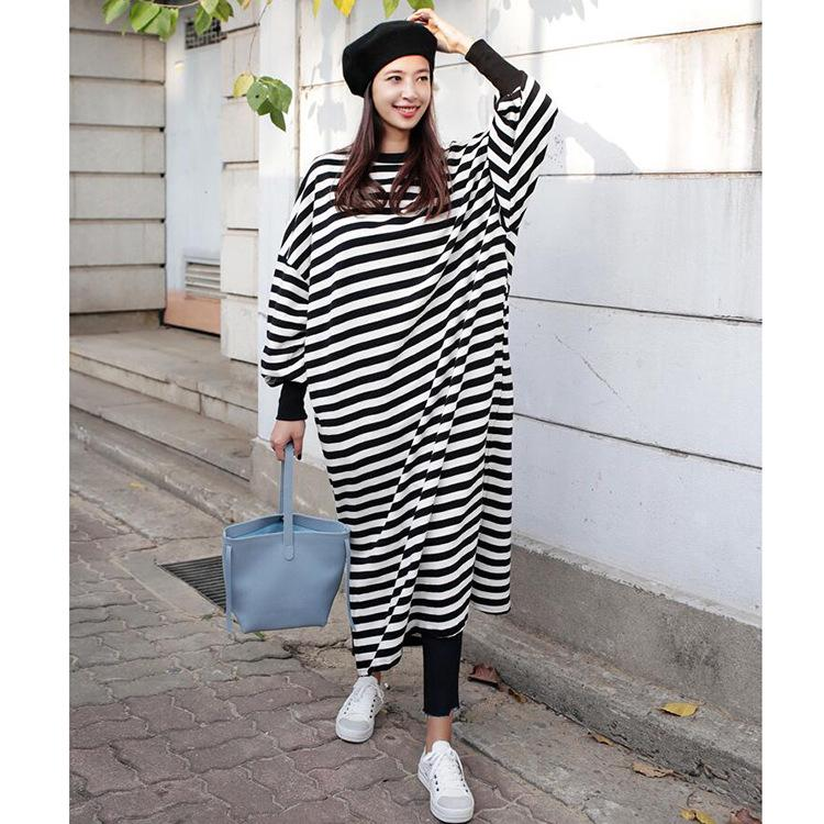 women's clothing hot sale in autumn and winter cross border loose set head band mouth long sleeve split dress