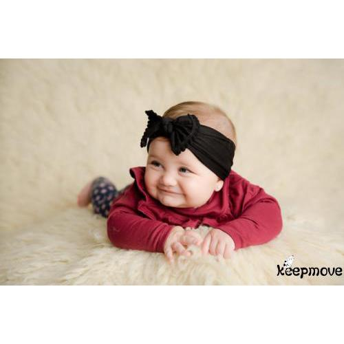 MEE-Cute Baby Knot Headband  Newborn Infant Princess Lace Bow Turbon Knot